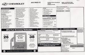 2012 Chevrolet Cruze Ltz Window Sticker Reviews Gallery Cheers And Gears