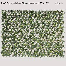 Amazon Com Ecoopts Artificial Fence Privacy Screen Ivy Leaf Expandable Stretchable Pvc Single Side Leafs And Vine Decoration For Outdoor Garden Yard 1 Pack Garden Outdoor