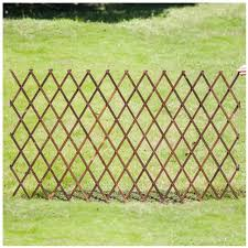 Amazon Com Lixiong Garden Fence Outdoor Wooden Expanding Fence Animal Barrier Border Plant Palisades For Courtyard Plants Growing 7 Size Size 120x24cm Garden Outdoor