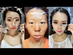 chinese makeup tutorial before and