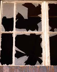 broken glass window panes window