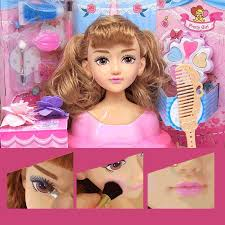 doll make up hairstyle doll half