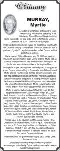 Obituary – Myrtle Murray | The Chesterville Record