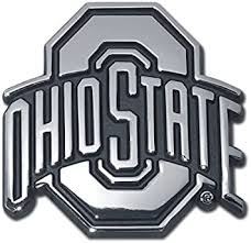 Amazon Com Ohio State University Buckeyes Chrome Plated Premium Metal Emblem Ncaa College Car Truck Motorcycle Logo Automotive