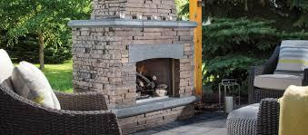 outdoor stone fireplace kitchen kits