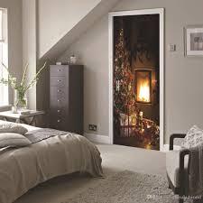 Dsu Christmas Fireplace Wall Sticker Mural Bedroom Door Poster Home Decor Removable Wall Art Stickers Removable Wall Decal From Qiansuning888 47 26 Dhgate Com