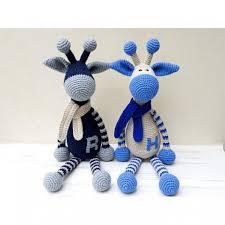 crochet giraffe safari baby shower gift