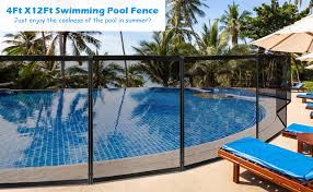 Amazon Com Giantex Pool Fence In Ground Fencing Section 4foot X48foot Kit Safety Mesh Barrier W 2 Size Sleeves Removable Kids Garden Fence Upgraded Swimming Pool Fence Garden Outdoor