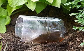 upcycle plastic bottles in the garden