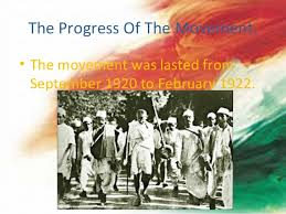Non Co-operation Movement by Gandhiji.