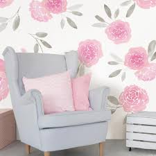 Wall Pops Pink May Flowers Wall Decal Wpk2458 The Home Depot