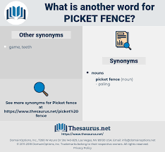 Synonyms For Picket Fence Thesaurus Net