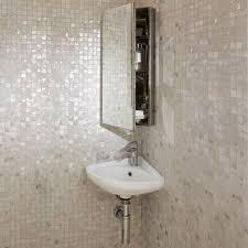 corner mirror wall cabinet bath