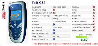Datos del móvil en tu página Telit G82 ...