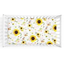 baby bedding sunflower crib sheet