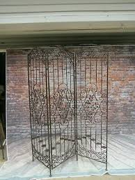 vintage wrought cast iron room divider