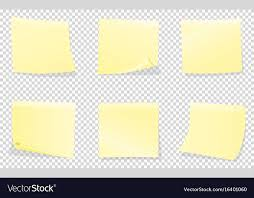 yellow sticky notes isolated on
