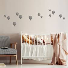 Hot Air Balloons Wall Stickers In Muted Tones For Beautiful Nurseries Made Of Sundays