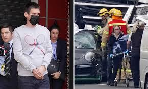crash Porsche driver Richard Pusey ...