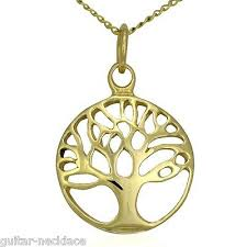 tree of life necklace 9ct pendant chain