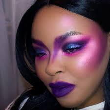dramatic purple makeup saubhaya makeup