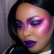 dramatic purple makeup look paper