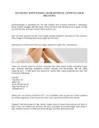 sugaring hair removal in winnipeg