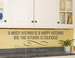 A Messy Kitchen Is A Happy Kitchen Vinyl Decal Wall Sticker Words Letters Quote Ebay Kitchen Vinyl Decals Wall Stickers Words Kitchen Vinyl