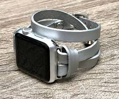 apple watch 38mm 40mm band grey leather