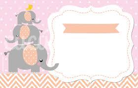 Invitaciones De Fiesta Elefante Rosado