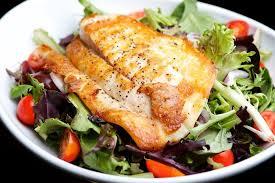 fish salad with horseradish sauce