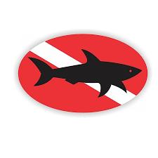 Scuba Diving Shark Vinyl Die Cut Decal Sticker 4 Sizes