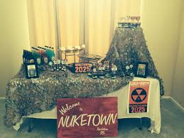 Call Of Duty Black Ops 2 Zombies Birthday Party Fiesta Militar