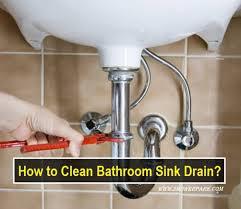 how to clean bathroom sink drain