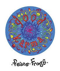 Enjoy It Peace Frogs Good Karma Peace Frogs Car Sticker Outdoor Rated Vinyl Sticker Decal For Windows Bumpers Laptops Vinyl Sticker Car Stickers Peace Frog
