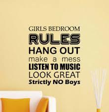 Girls Bedroom Rules Wall Decal Door Sign Poster Quote Vinyl Sticker Decor 827 Ebay