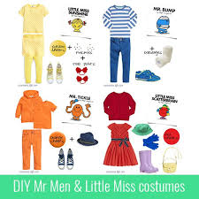 diy mr men and little miss costumes