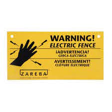 10x Electric Fence Warning Signs For Sale Online Ebay