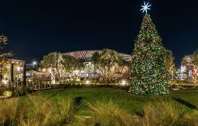 night the city ca new year tree