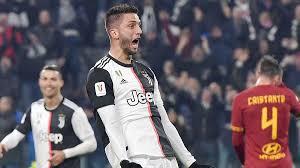 Rodrigo Bentancur celebrates his goal as Juventus defeat Roma 3-1 ...