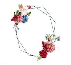 Download Premium Vector Of Floral Frame Card Design Illustration