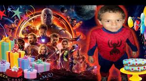 Tarjeta Invitacion Cumpleanos Avengers Infinity War Para Whapsatt