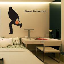 Street Basketball Player Sticker Car Decal Sports Posters Home Decoration Vinyl Wall Decals Decor Mural Basketball Wall Decal Wall Stickers Aliexpress