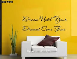Mad World Dream Until Your Dreams Come True Wall Art Stickers Wall Decal Home Diy Decoration Removable Room Decor Wall Stickers Wall Sticker Decorative Wall Stickerswall Art Stickers Aliexpress
