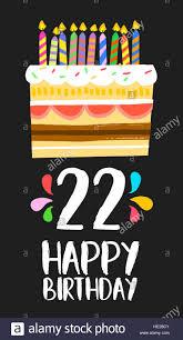 Feliz Cumpleanos Numero 22 La Operacion De Tarjetas De