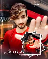 stylish love boy in red shirt 2020 dp pic