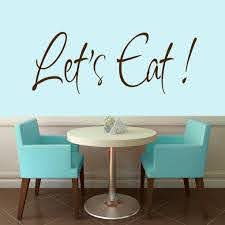 Shop Let S Eat Wall Decal 48 Inches Wide X 18 Inches Tall On Sale Overstock 12129863