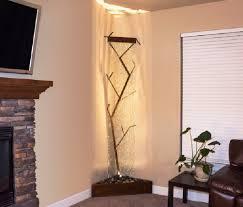 chic corner indoor waterfall design for