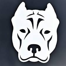 Custom Pit Bull Decal Pitbull Dog Vinyl Sticker Pick Your Size And Color Wickedgoodz