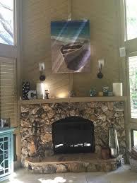 whitewash a stone fireplace